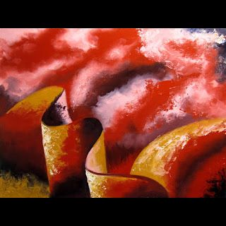 Mark Webster - Abstraction 19 - Abstract Landscape Oil Painting