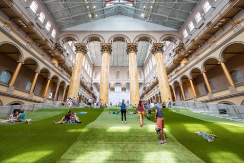 """Rockwell Group's LAB Creates a """"Lawn"""" for the National Building Museum"""