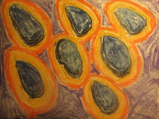 Outer Space Traffic - Oil Pastel