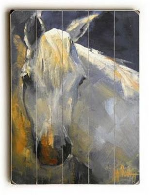 Horse Portrait on Wood, Horse Painting, Daily Painting, Horse Giclee Print