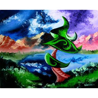 Mark Webster - Abstraction 20 - Abstract Landscape Oil Painting