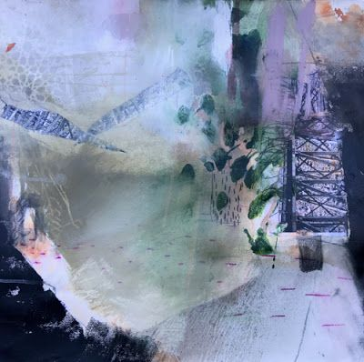 "Contemporary Art, Abstract Painting, Mixed Media ""Release"" by Intuitive Artist Joan Fullerton"