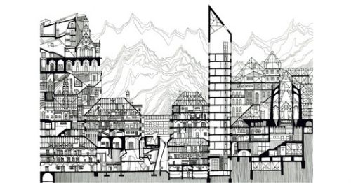 These Delicate Illustrations Turn Images of Urban Density into Art