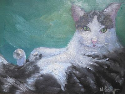 Pet Painting, Cat Painting, Daily Painting, Small Oil Painting
