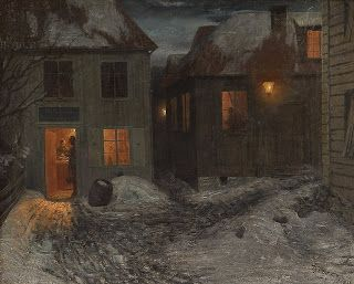 Theodor Severin Kittelsen, Interior from a small town, Kragerø
