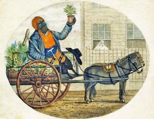 Celebrating The Earth's Beauty - 18C London print of African amputee Roots Seller