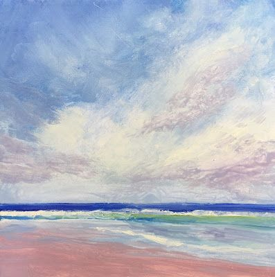 "Quiet Beach Scene, ""Serenity,"" by Amy Whitehouse"