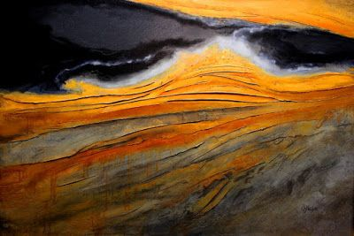 "Abstract Geologic Landscape Painting ""Mineral Rights 2"