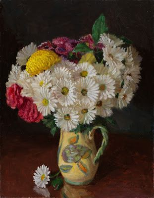 Daily flower original oil painting still life contemporary realism