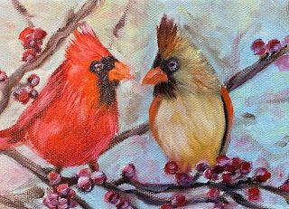 Just the Two of Us, by Melissa A. Torres, 5x7 oil on canvas