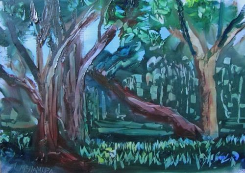 1691 Forest Green Jewels Plein Air Alla Prima