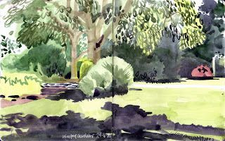 Everything's gone green: Urban sketching in the age of COVID-19