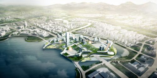 Morphosis Releases Details of Competition-Winning Scheme for Unicorn Island Masterplan in China