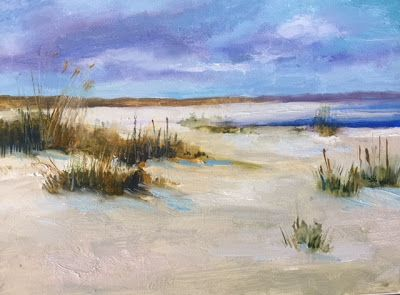 """Beach and Ocean Painting, """"Florida-Georgia Line,"""" by Amy Whitehouse"""