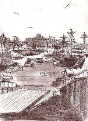 Sketches at Incheon wharf