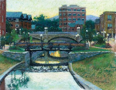 Frederick, Maryland Riverwalk - A painting challenge