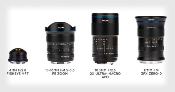 Venus Optics Unveils 4 Lenses: 10-18mm, 100mm, 17mm, and 4mm