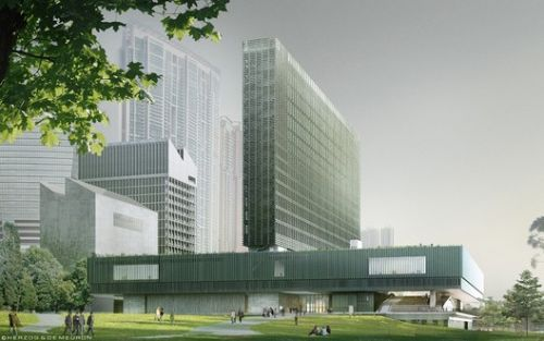 Herzog & de Meuron's M+ Museum Tops Out in Hong Kong