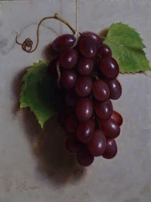 """Red Grapes"" Oil on linen board 8x6"