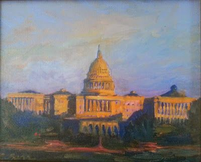 The Capital at Sunset 51715 by Candy Barr