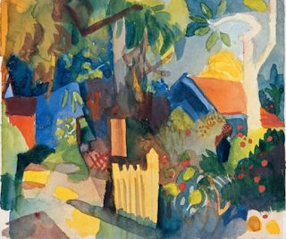 August Macke. German Expressionist. Killed in WWI