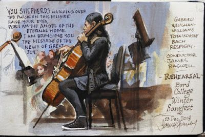 Painting a Cellist