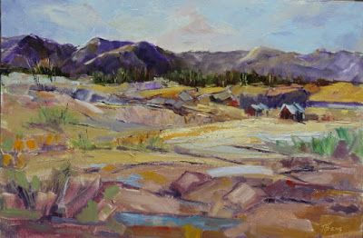 "Contemporary Colorado Landscape Painting, Fine Art Oil Painting ""Summer Home"" by Colorado Contemporary Fine Artist Jody Ahrens"