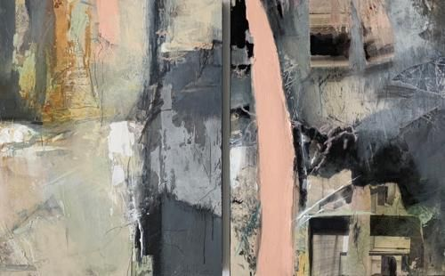 """Contemporary Mixed Media Painting """"Invitation to Transcend"""" by Intuitive Artist Joan Fullerton"""