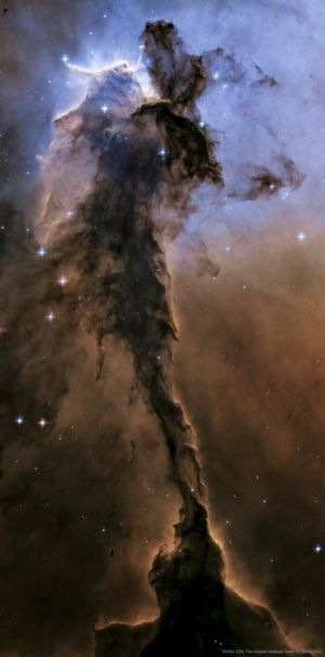 The dust sculptures of the Eagle Nebula are evaporating