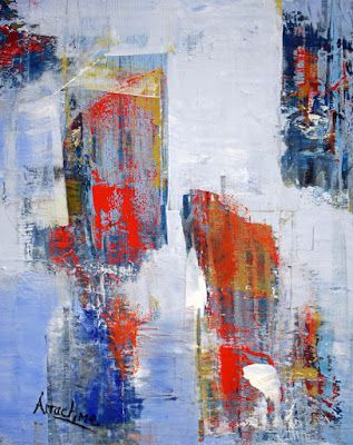 """Abstract Painting, Contemporary Art """"Room With A View"""" by International Contemporary Abstract Artist Arrachme"""