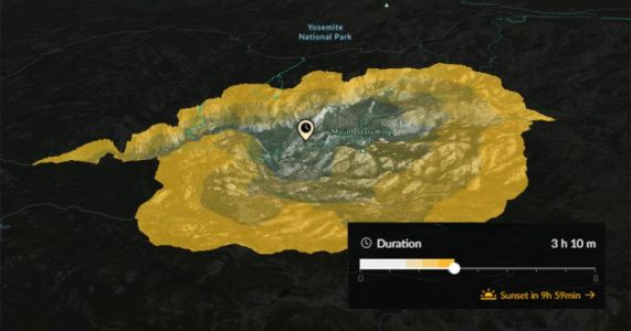 This 3D Map Shows Where You Can Hike to in Any Given Amount of Time