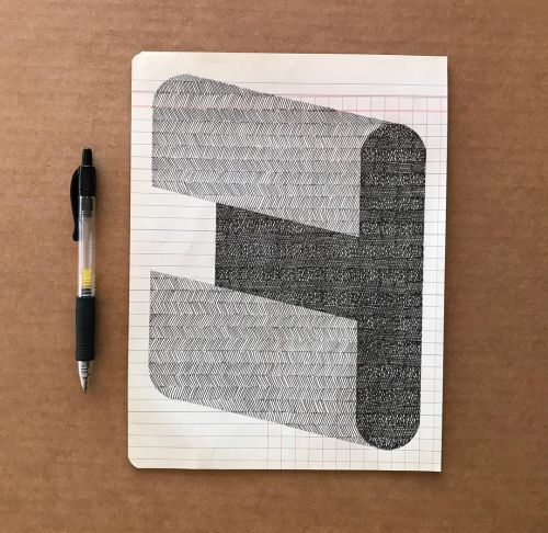 Meditative Geometric Shapes Doodled on Old Ledgers by Albert Chamillard