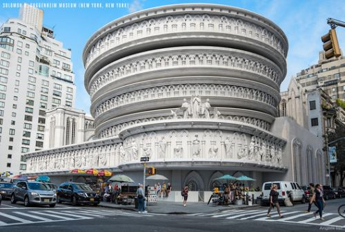 Iconic American Buildings Re-Envisioned in the Gothic Revival Style