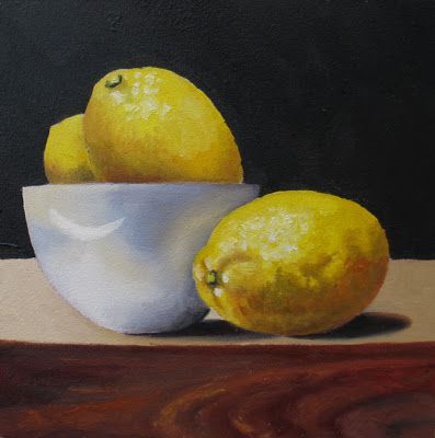 White Bowl with Lemons - SOLD