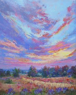 Vibrant and Serene, New Contemporary Landscape Painting by Sheri Jones