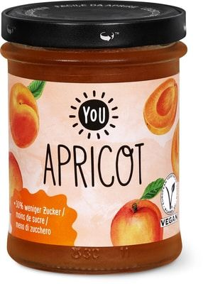 Apricot Watercolor Illustrations For Jam Labels On Jar