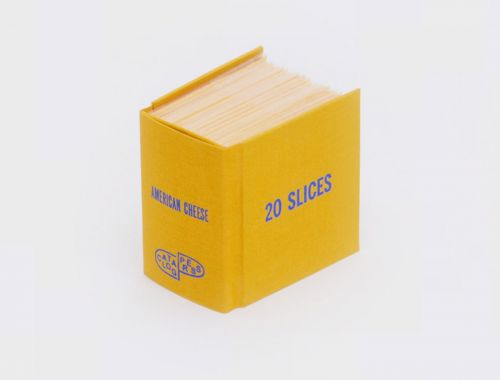 Cheese Slices, Condiments, and Other Object Collections Bound into Books by Ben Denzer