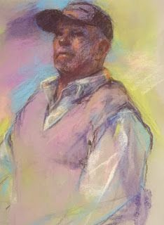 MALE STUDY - pastel sketch by Susan Roden