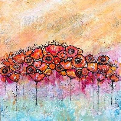 """Today I Choose Joy"", Original Mixed Media Painting by Colorado Artist, Donna L. Martin"