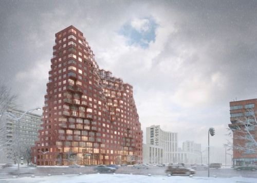 MVRDV References Moscow's Historic Architecture with Competition-Winning Mixed-Use Design