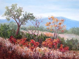 Patterns of Fall, New Contemporary Landscape Painting by Sheri Jones