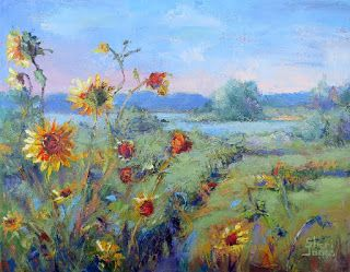 Nature's Wild Garden, Contemporary Landscape Painting by Sheri Jones