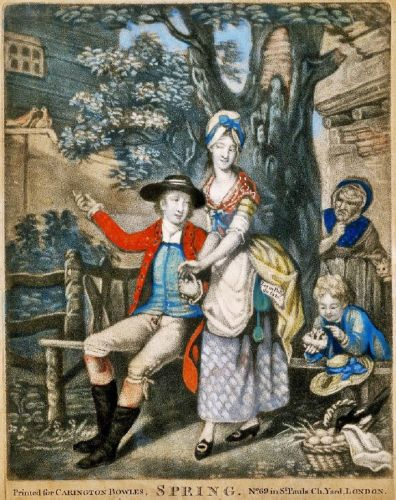 18C Allegories of Spring - Love & a Child with a Bird Nest