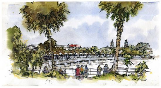 October Sketchwalk at Sentosa Boardwalk
