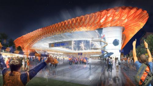 Meis Architects Designs FC Cincinnati Stadium with ETFE Pillows