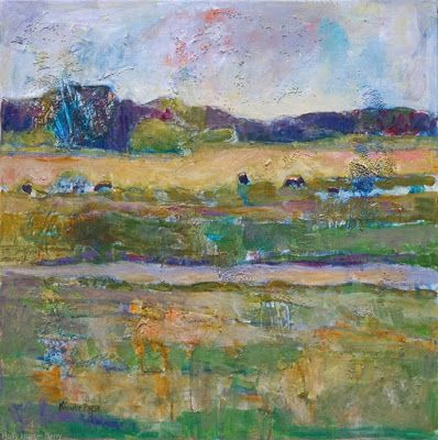 "Contemporary Colorful Landscape Painting, Cows Grazing, Fine Art For Sale, ""AS IT SHOULD BE"" By Passionate Purposeful Painter Holly Hunter Berry"
