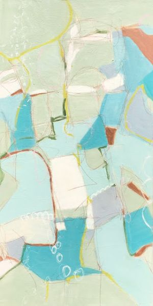 "Contemporary Art, Abstract Expressionist Fine Art Painting, Art for Sale ""SHE SELLS SEA SHELLS"
