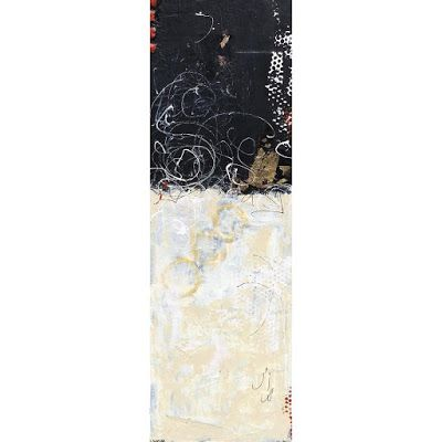 """Mixed Media, Contemporary Abstract Expressionist Painting, """"Family Business"""" by Contemporary Expressionist Pamela Fowler Lordi"""