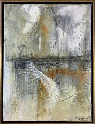 "Mixed Media, Contemporary Painting, ""Epic and Elegy"" by Texas Contemporary Artist Sharon Whisnand"
