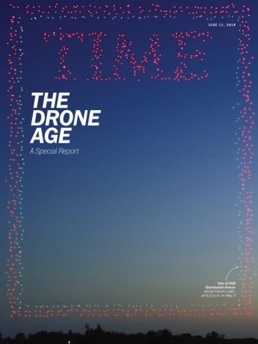 TIME's Latest Cover Photo is a Drone Photo of 958 Drones